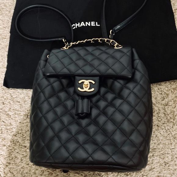 7c635d452f20 CHANEL Bags | Calf Skin Gold Toned Metal Backpack | Poshmark